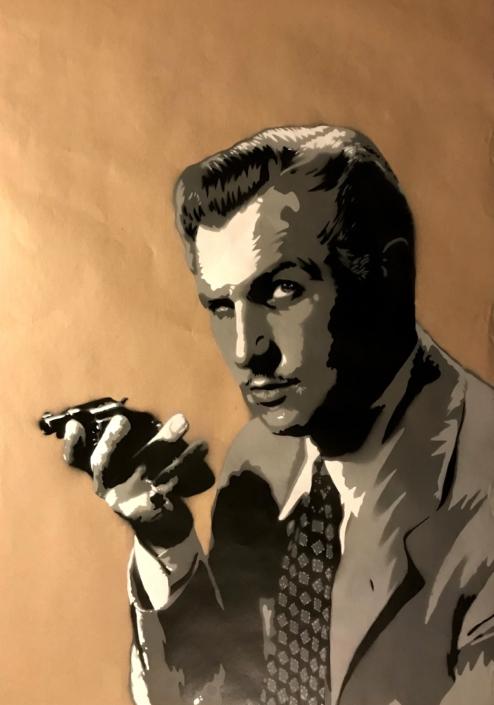 Vincent Price Stencil